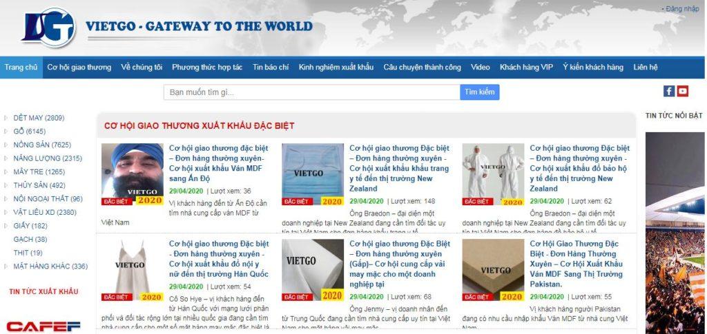 Tìm khách hàng quốc tế thông qua dịch vụ Vietgo
